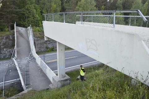 I løpet av høsten kommer det en ny, lengre og kraftigere turveibru over rv. 35 i Vikersund.