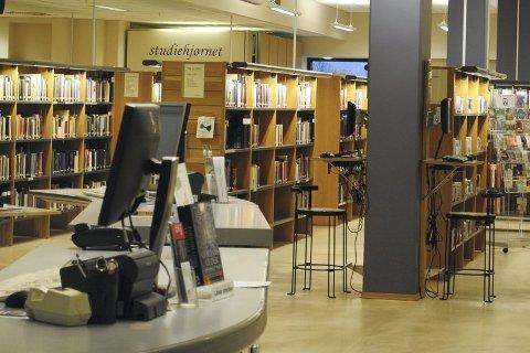 Det blir markering av kvinnedagen på Ringerike bibliotek. Arkivfoto: Anders Skrataas