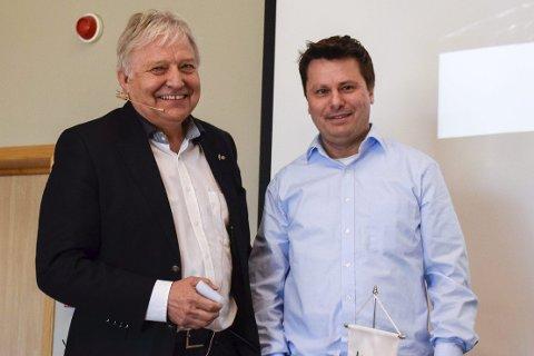 Styreleder Olav Breivik og daglig leder Tor Henrik Kristiansen.