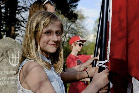 Speider Bertine Jensen skal bidra i flaggheisingen 17. mai.