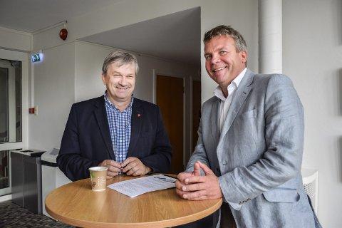 Ordfører Kjell B. Hansen og Dag E. Henaug (H).