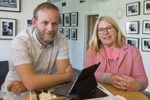 TOPPKANDIDAT: Kirsten Orebråten er Arbeiderpartiets ordførerkandidat og jobber for å trekke velgere til Arbeiderpartiet. Mons-Ivar Mjelde ønsker å satse på Viken og står på sisteplass på lista.
