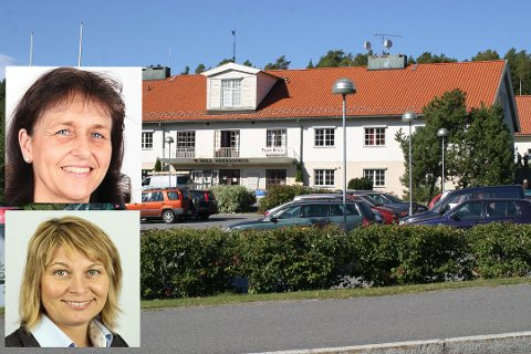 Kristin Remme, styreleder i Hole Høyre og Elisabeth Klever, gruppeleder i Hole Høyre.