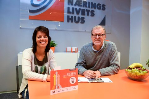 Linda Moholdt Nordgården og Jan Erik Gjerdbakken i Ringerike Næringsforening har programmet klart for Ringerikskonferansen 20. oktober.
