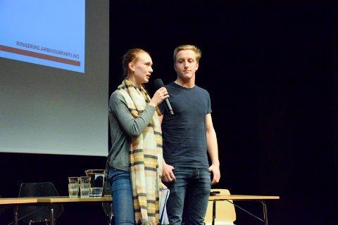 DET SOM MÅ TIL: Hanne Andersen Tronerud og Kristian Kammerud svarte på hva som må til for at de skal bo på Ringerike om 20 år.