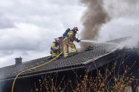 To unge menn er dømt for å ha startet denne brannen.
