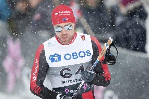 Det ble ingen ny laurbærkrans rundt skuldrene for skiløperen fra Hole, Tord Asle Gjerdalen. Arkivfoto: NTB, Terje Pedersen