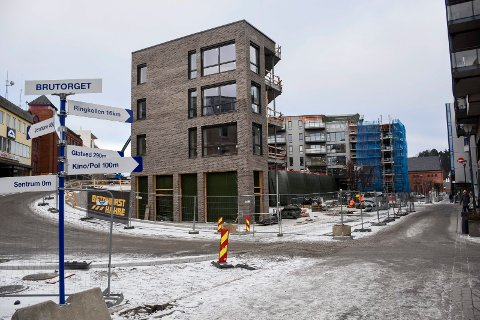 Snart er det klart for innflytting i de første leilighetene på Brutorget.