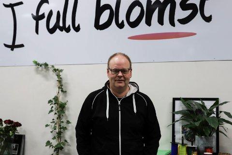 GIR SEG: Trond Dahl slutter med blomster, og skal selge et vinterprodukt på heltid.