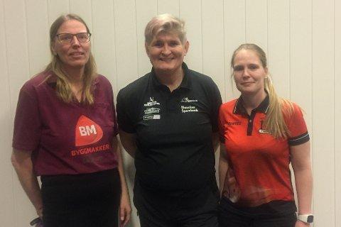 Fra venstre Lilian Larsen Gjøvik BK, Janne Monsen Ringerike BK og Grethe Walstad Fosseide Trondheim BK.