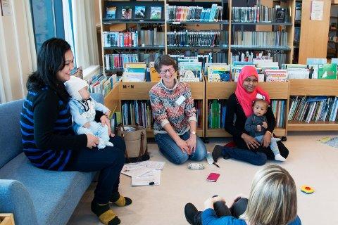 BARN: Småbarnsgruppe har også et tilbud.