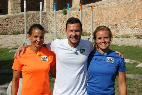 Anders Jacobsen gikk helt til topps i TV-serien Mesternes Mester og vant over Tonje Sørlie (til venstre) og Helene Olafsen.