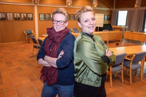 Sammen: Trine Lise Olimb (Ap) og Lisbeth Fremstad Morewood(SV) går sammen med LO Hadeland om årets 1. mai-markering.