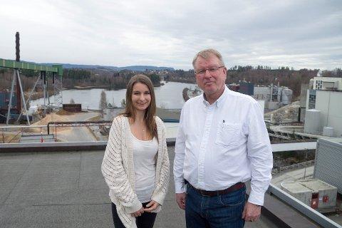 Prosjektutvikler Veronika Bazika og daglig leder Magne Vegel er på stadig leting etter bedriftsideer innenfor miljø og bærekraftig utvikling.
