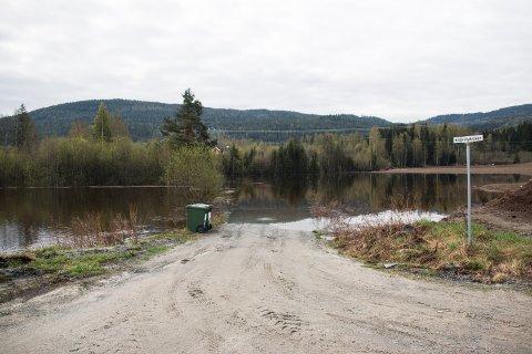 Forsvant: Veien til Kittelsbykroken har forsvunnet i år igjen.