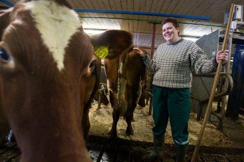 FÅR VÆRE ALENE HJEMME:Torunn Hovdes dyr på Øvre Lundesgården får være alene hjemme noen timer mens hun er borte og demonstrerer.