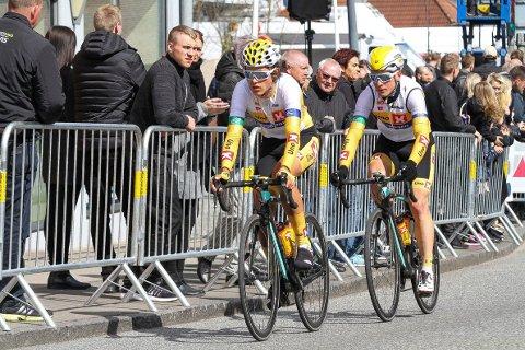 Ringeriks-håpene: Torstein Træen og Audun Brekke Fløtten fra Uno-X-laget skal måle krefter med storlagene i Tour of Norway.
