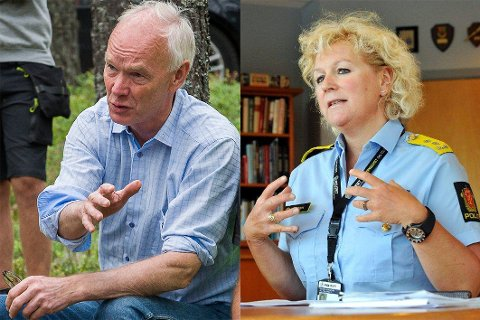 Per Olaf Lundteigen og Christine Fossen møttes onsdag for å snakke om politireform.