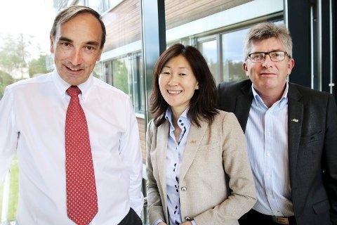 Aka AS: Aage Thoresen, finansdirektør Jane K. Gravbråten og daglig leder Paal Haakensen.