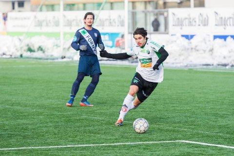 Alexander Groven spilte første omgang for HBK mot Frigg i årets første treningskamp.