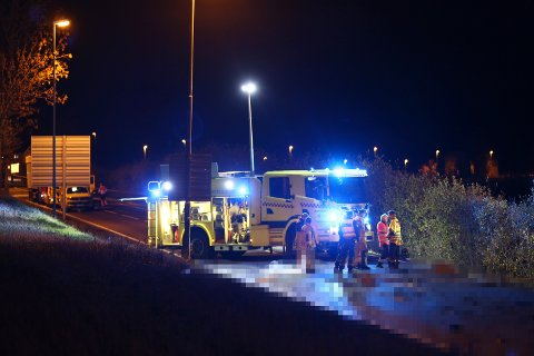 TRAGISK ULYKKE: Føreren av personbilen omkom i sammenstøtet med lastebilen.