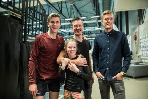 Jakob Ingebrigtsen har blitt syk, men Henrik, Filip Ingebrigtsen og lillesøster  Ingrid Ingebrigtsen skal løpe Hytteplanmila.