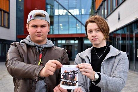– IKKE BOIKOTT: Emilie Linnea Kozák Kristoffersen (18) og Heike-Nathaniel Krokvik (17) oppfordrer ungdom til å delta på Operasjon Dagsverk.