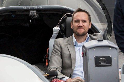 GRÜNDER: Tomas Brødreskift er i ferd med å realisere drømmen om å utvikle et fly med hybridmotor som alle kan bruke.