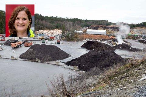 LUKTTILTAK: Neste år vil HRA og kommunikasjonssjef Åse Toril Krågsrud blant annet investere i en omlastingshall, som skal gi mindre lukt fra avfallsanlegget.