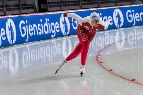5. PLASS: Marie Bakken Haugli tok femteplassen i U23-verdenscupen på skøyter.