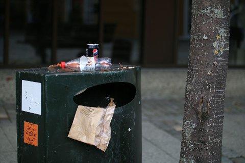 TAR IKKE MED SEG PANTEN: Mange dropper å pange flasker og bokser når muligheten er for langt unna.