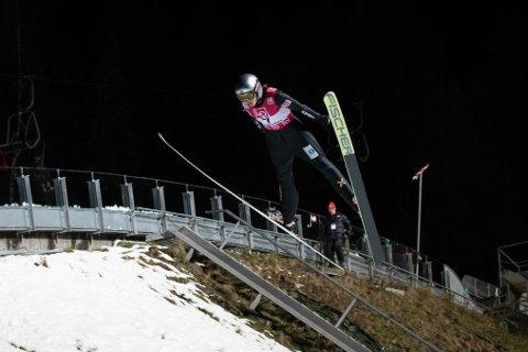 Silje Opseth fikk ikke helt fullklaff i lørdagens renn i Japan. Her hopper hun på Lillehammer i desember 2018
