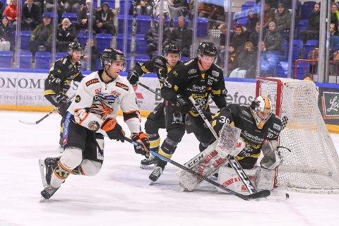 STORTAP: Ringerike Panthers - Frisk Asker endte 1-7. Petter Ellefsen, her fra et tidligere oppgjør, ble eneste målscorer for vertskapet.