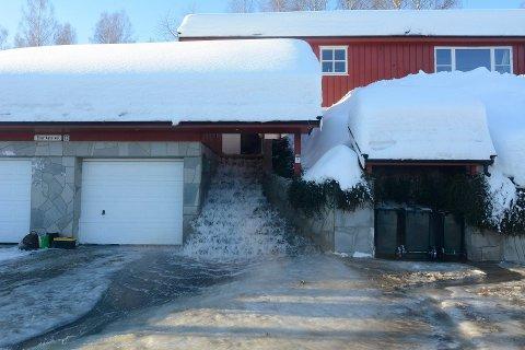 To hus er berørt av de enorme vannmengdene i Drammen.