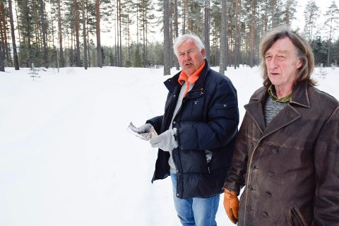FOTAVTRYKK: Sven Anders Bjørnstad (til venstre) og Karl Ivar Blyberg vil legge igjen et positivt fotavtrykk når de bygger ut Bergermoen park.
