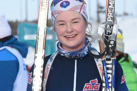 Hedda Thoresen Bolstad kunne til slutt smile over bronse etter et dramatisk løp.