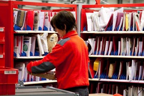 Sortering: Posten og Brings terminal i Skodje rett utenfor Ålesund.