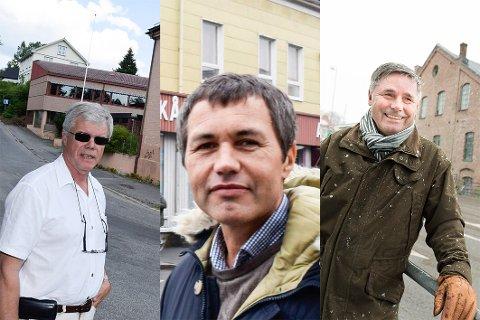 Eiendomsutviklere i Hønefoss: Fra venstre: Jan Solberg, Sindre Lafton og Haakon Tronrud.