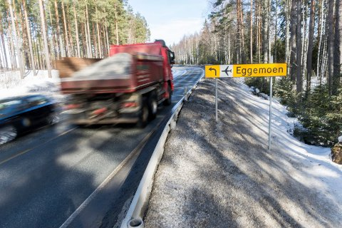 Her blir det ny asfalt i 2018. Fra Austjord til fylkesgrensa er det planlagt asfaltlegging.