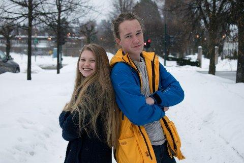 Kvinnedagen: Ylva Huru Bergene og Sondre Wingar Elnæs mener kvinnedagen er viktig.