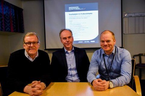 Jan Erik Gjerdbakken, Steinar Aasnæss og Bjørn Rune Rindal ser fram til lanseringen av vekstbarometeret.