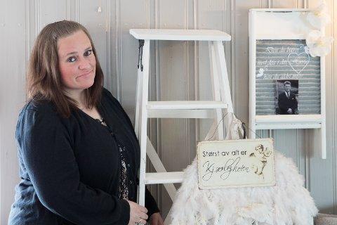 Gjenbruk: Veronica Sagbråten fra Tyristrand ble hekta på gjenbruk etter at hun fant en gammel stide.