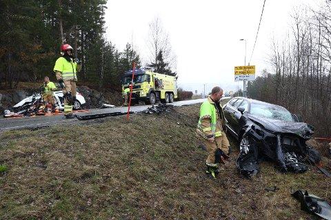 En person omkom i trafikkulykken ved Tyristrand fengsel mandag formiddag.