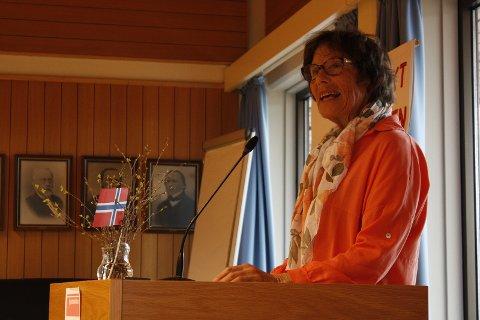 Rødt: Kristin Flack fra Rødt gav også fokus til lokalpolitikk.