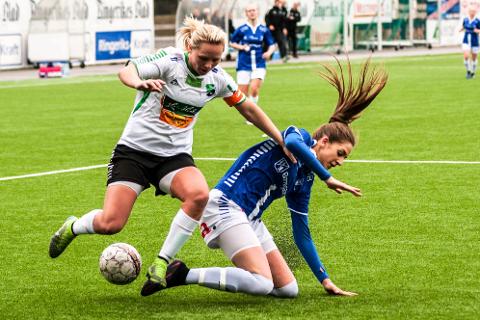 SENTRAL SPILLER: Silje Nyhagen var god og viktig i lørdagens kamp mot Fjellhamar. Bildet er tatt ved en tidligere anledning.
