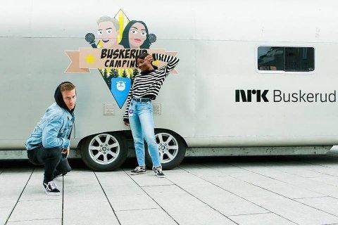 POPULÆR DUO: Daniel Horgen og Matunda Birgirimana kan oppleves på Søndre torg fra klokken 10 onsdag formiddag.