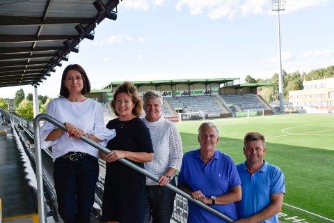 Nytt styre: Gunn Iren Midtbø (leder), Cathrine Veiby, Cecilie Øyen, Morten Woldsdal (nestleder) og Per Anund Loe er HBKs nye styre.
