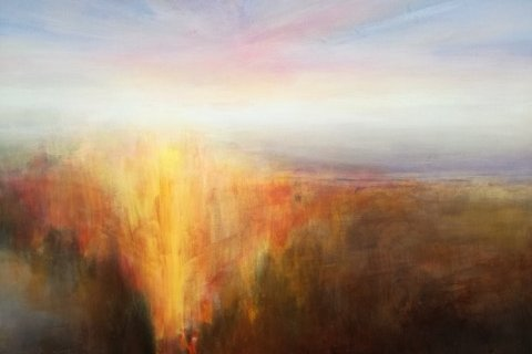 Poesi: - Pia Brix- Thomsen har det åpne og poetiske landskap som tema. Hennes malerier har Mark Rothkos sterke farger blandet med Turners mystiske aura, sier gallerist Elenor Martinsen.