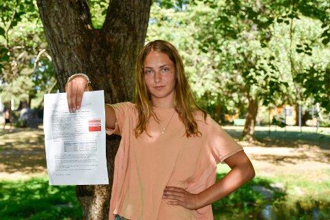 Ester Mjøs (16) ble sjokkert da hun så miljøkonsekvensene en ny motorvei vil medføre.