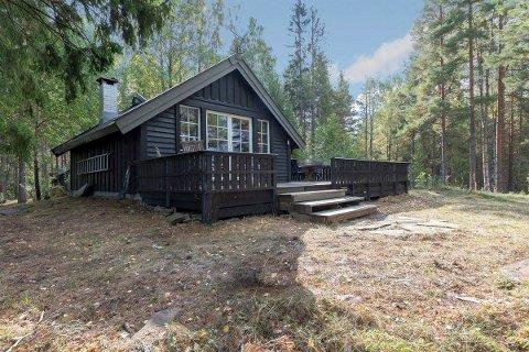 SOLGT: Ulvøya ligger i Steinsfjorden.